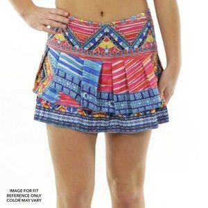 Lucky in Love Womens Boho Chic Pleat Tennis Skirt